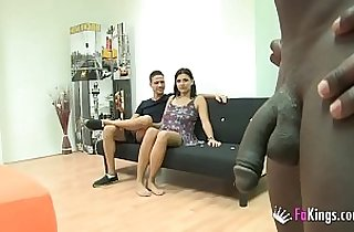 Vivi is just 18 but wants to try her first threesome