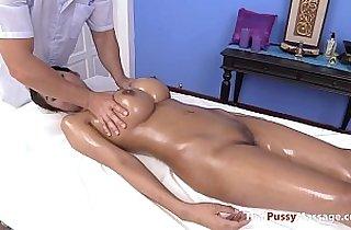 Massaging the nicest pair of Thai boobs