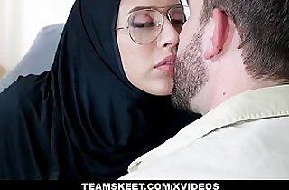 ExxxtraSmall Teen Wearing Hijab Fucked