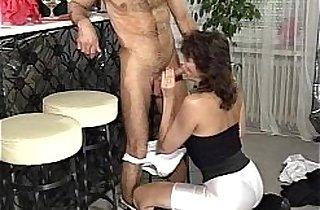Fucking An MILF Brunette Bartender In The Anal