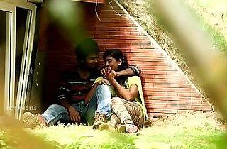 Indian Couple Boob Press Fuck In Park