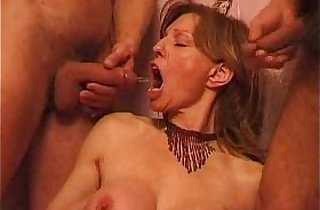 Another mature French fisting threesome