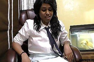 Randi Virgin School girl Lily talking in Hindi about wanting to fuck
