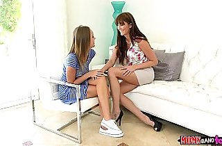 Moms Bang Teen and Milf gives couple some sex therapy