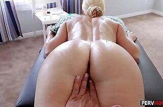 Gave my hot blonde MILF stepmom a massage and a fuck