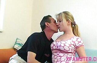 Sweet sahved amateur stepdaughter wet cunt taken by hard stepdad cock long deep