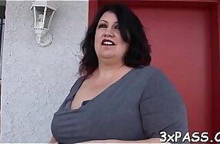 Dark chubby wench fucked