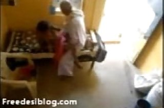 Old Tharki Baba Rubbing his Maid Behind N Seduced N Fuccked