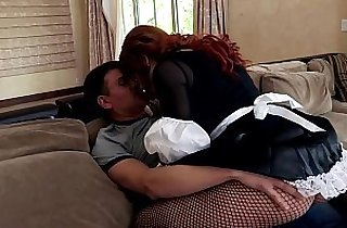 Brooklyn fucking in a skirt and fishnet pantyhose